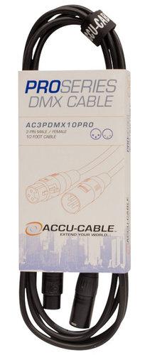 Accu-Cable AC3PDMX10PRO  10 ft Pro Series 3-Pin DMX Cable AC3PDMX10PRO