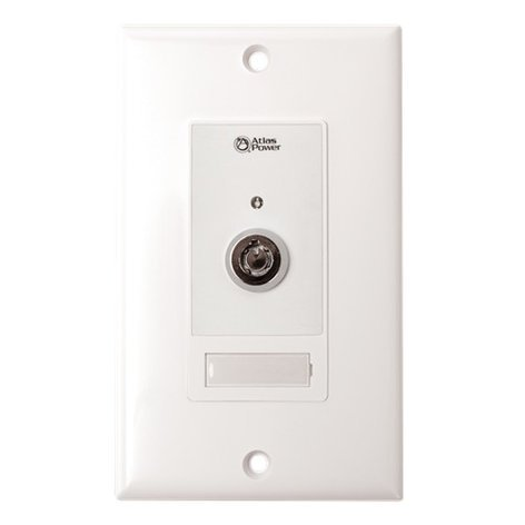 Atlas Sound WPD-KSWM  Wall Plate Key Switch with Momentary Contact Closure WPD-KSWM