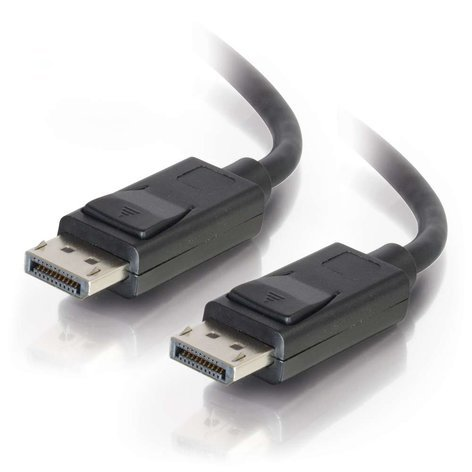 Cables To Go 54400  3 ft M/M DisplayPort Cable with Latches, Black 54400