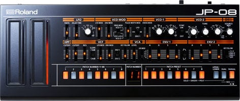 Roland JP-08 Roland Boutique Series 4-Voice Jupiter Synthesizer Module with 16-Step Sequencer JP-08