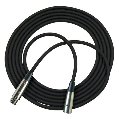 RapcoHorizon Music RM1-25  25 ft XLR Microphone Cable in Black RM1-25