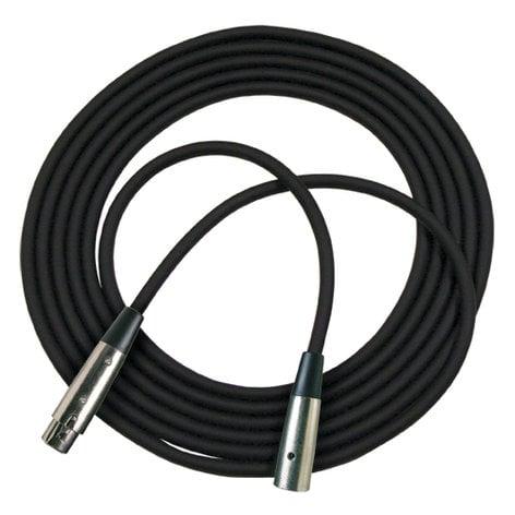 RapcoHorizon Music RM1-25  25 ft XLR Microphone Cable in Black RM1-25