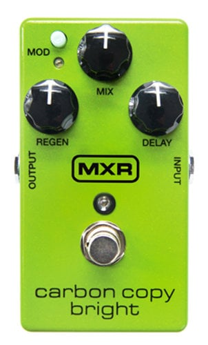 MXR Pedals Carbon Copy Bright Analog Delay Guitar Pedal CARBON-COPY-BRIGHT
