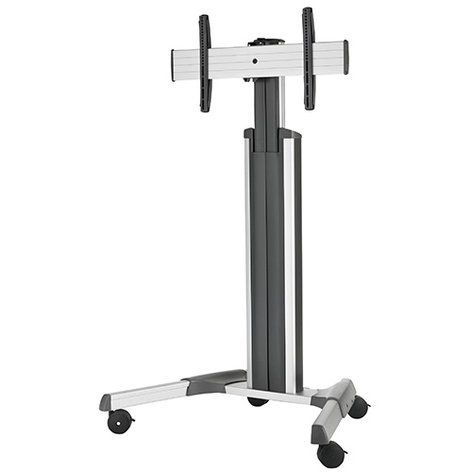 Chief Manufacturing LPAUS Large FUSION Manual Height Adjustable Mobile Cart, Silver LPAUS
