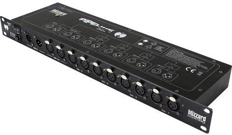 Blizzard Lighting Pipeline Twin 4-Way Dual Port 3/5-Pin DMX Splitter/Amplifier PIPELINE-TWIN