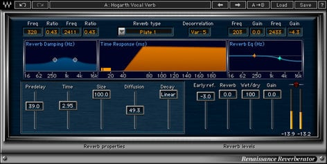 Waves Renaissance Reverb Reverb Plugin V5-RRD40