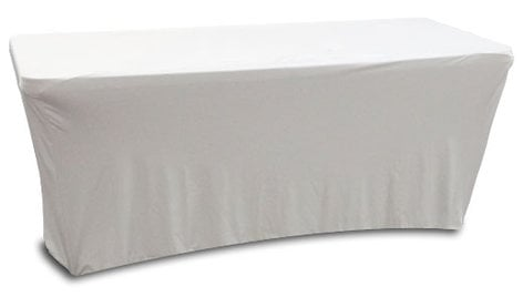 Odyssey Scrim Werks SPATBL6 6' Banquet Table Slip Screen in Black or White [SPATBL6BLK/SPATBL6WHT] SPATBL6