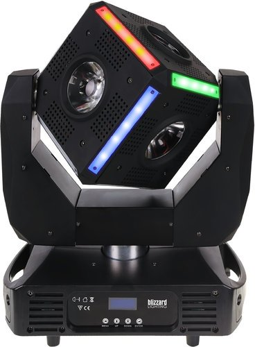 Blizzard Lighting Snake-Eyes Moving Head Fixture with 6x OSRAM 60W RGBW LEDs, and 12 RGB Strips Snake-Eyes