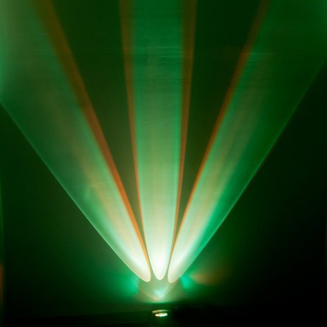 ADJ WIFLY-CHAMELEON WiFLY Chameleon 3x 15W RGBA+UV (5-IN-1) LED Offset Color Wall Wash Fixture with 6ch DMX WIFLY-CHAMELEON