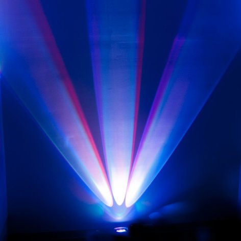 ADJ WiFLY Chameleon 3x 15W RGBA+UV (5-IN-1) LED Offset Color Wall Wash Fixture with 6ch DMX WIFLY-CHAMELEON