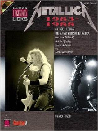 Hal Leonard Metallica - Legendary Licks 1983 - 1988 Guitar Tablature Book 02500181