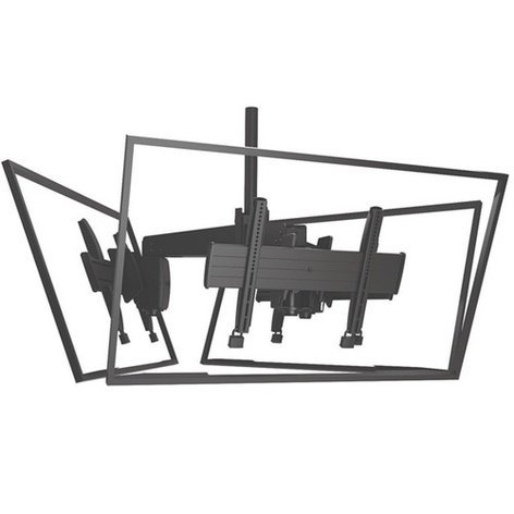 "Chief Manufacturing LCM3U FUSION Large Flat Panel Triple Ceiling Mount for 32""-60"" Displays in Black LCM3U"
