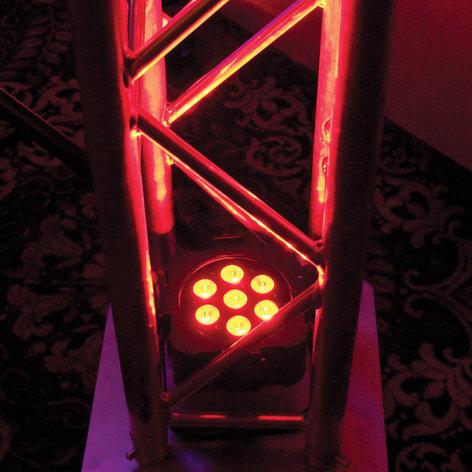ADJ FLAT PAR TRI7XS 7x3W TRI LED Low Profile Par with DMX FLAT-PAR-TRI-7XS