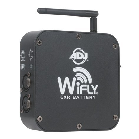 ADJ WIFLY EXR BATTERY Extended Range Battery Powered WiFly Transceiver WIFLY-EXR-BATTERY