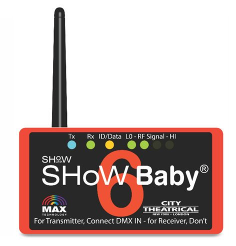 City Theatrical SHoW Baby 6 Three Pin 3 Pin Show Baby 6 Wireless DMX Transceiver SHOW-BABY-6-3