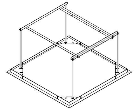Draper Shade and Screen 300292  (U) Ceiling Closure Panel for Scissor Lift SL 300292