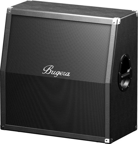"Bugera BUGERA-412H-BK-USED 412H-BK [USED ITEM] 4x12"" 200W Stereo Guitar Speaker Cabinet BUGERA-412H-BK-USED"