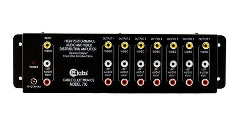 Cable Electronics AV700 1x7 Composite Video/Audio Distribution Amplifer CEL-AV700