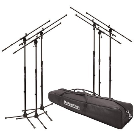 On-Stage Stands MSP7706  6-Pack of MS7701B Euro-Style Microphone Stands MSP7706