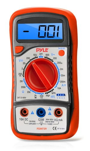 Pyle Pro PDMT29 Digital Multimeter with Rubber Case & Stand PDMT29