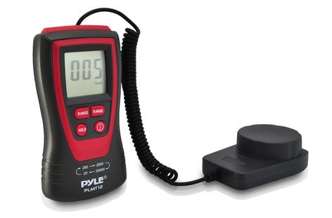Pyle Pro PLMT12 Handheld Digital Photometer with 20,000 Lux Range PLMT12
