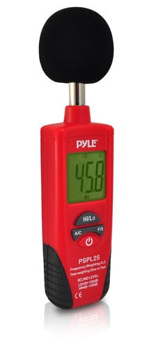 Pyle Pro PSPL25 Sound Level Meter with A & C Frequency Weighting PSPL25
