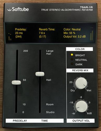 Softube TSAR-1R Reverb Stereo Algorithmic Reverb Plugin TSAR-1R-REVERB