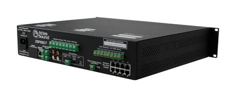 Atlas Sound DSP8807 Self Contained, Multi-Zone Digital Controlled Networkable Sound Masking Processor and 8-Channel Amplifier DSP8807