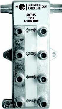 Blonder-Tongue SRT8A Directional Tap, 8 Output 5-1000 MHz,In-Line Style,Values: 11, 14, 17, 20, 23, 26, 29, 32, 35 dB SRT8A