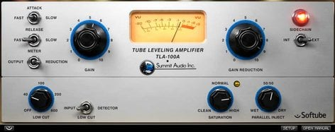 Softube TLA100A-SFT Summit Audio TLA-100A Compressor Vintage Compressor Plugin TLA100A-SFT