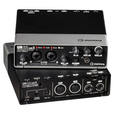 Steinberg UR22mkII 2 x 2 USB 2.0 audio interface with 2 x D-PRE and 192 kHz support UR22MkII