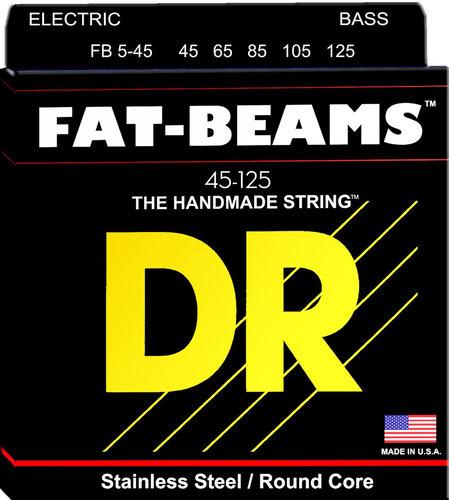 DR Strings FB5-45  Fat-Beams Bass 5 Strings Medium 45-125 FB5-45