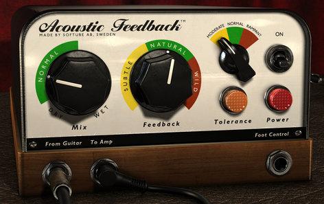 Softube ACOUSTIC-FEEDBK-NATV Acoustic Feedback Guitar Feedback Simulator Plugin ACOUSTIC-FEEDBK-NATV