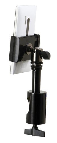 On-Stage Stands TCM1901 Grip-On Universal Device Holder with U-Mount Round Clamp TCM1901
