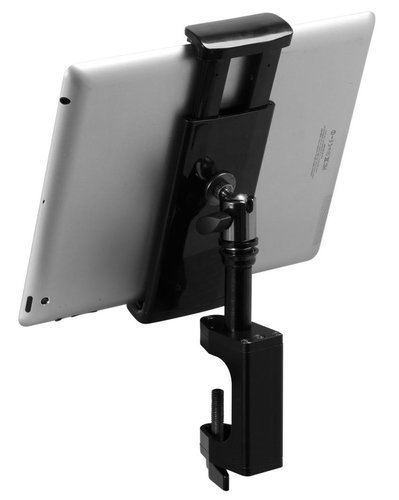 On-Stage Stands TCM1908 Grip-On Universal Device Holder with U-Mount Bullnose Clamp TCM1908