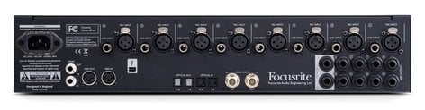 Focusrite Clarett 8PreX 26 In / 28 Out Thunderbolt Interface with 8 Clarett Microphone Preamps and Extended I/O CLARETT-8PRE-X