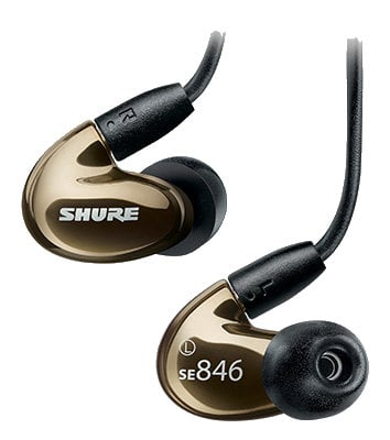 Shure SE846 Sound Isolating Earphones, Bronze SE846-BNZ