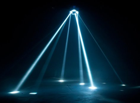 ADJ NINJA 5RX Mirrored Multi-Beam Effect Light with Color Wheel & Gobos NINJA-5RX