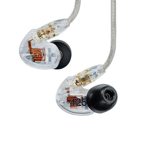Shure SE425-CL Dual-Driver In-Ear Monitors, Clear SE425-CL