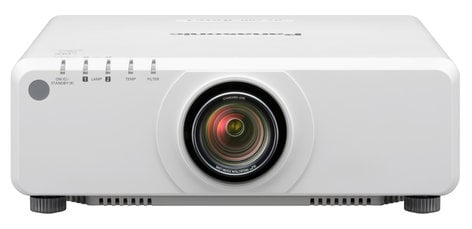 Panasonic PT-DX820LWU 8200 Lumen XGA 1-Chip DLP Projector in White Without Lens PTDX820LWU