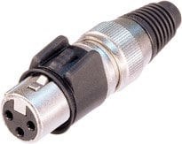 Neutrik NC3FX-HD 3-pin Female XLR Cable Connector, Heavy Duty NC3FX-HD