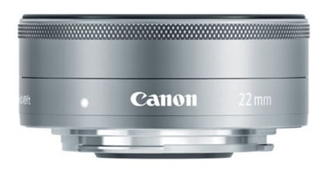 Canon 9808B002 EF-M 22mm f/2 STM Wide Angle Lens in Silver 9808B002