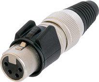 Neutrik NC4FX-HD  4-pin Female XLR Cable Connector, Heavy Duty NC4FX-HD