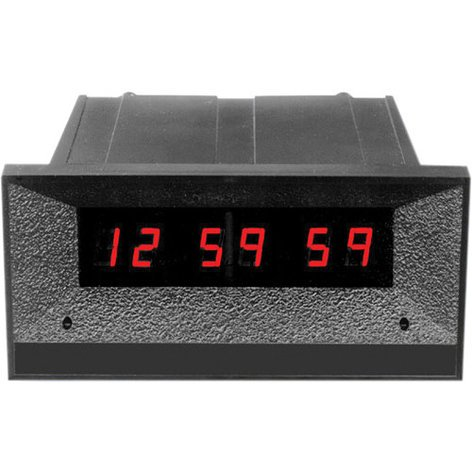 TecNec ES-574U-M  24 hour 6-Digit Clock/Timer with Front Mounted Switches ES-574U-M