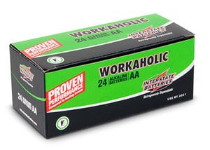 Interstate Battery DRY0070-24PACK  Workaholic AA Batteries, 24-Pack DRY0070-24PACK