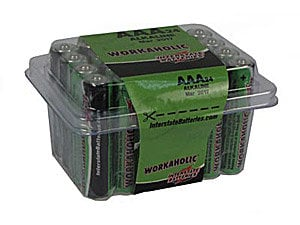 Interstate Battery DRY0075-24PACK  Workaholic AAA Batteries, 24-Pack DRY0075-24PACK