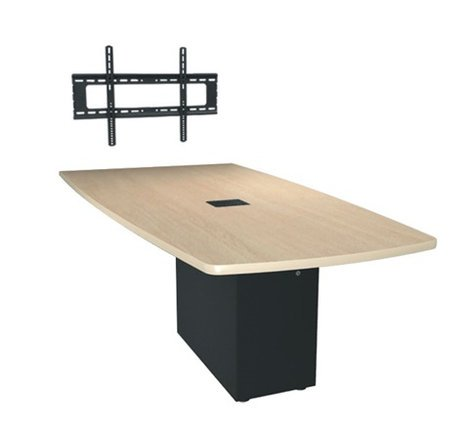 Middle Atlantic Products HUBTS-96ANGLE-H 8' x 4' HUB Table System with Angle Shaped Top, HPL HUBTS-96ANGLE-H
