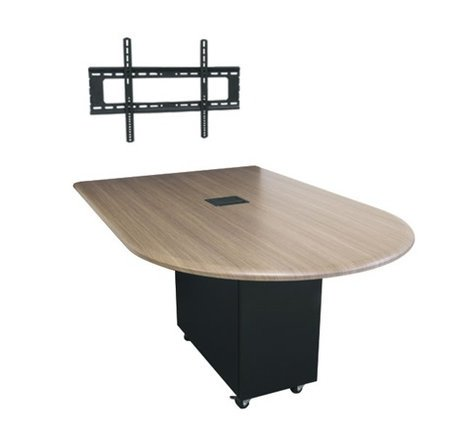 Middle Atlantic Products HUBTS-96BULLET-H 8' x 4' HUB Table System with Bullet Shaped Top, HPL HUBTS-96BULLET-H