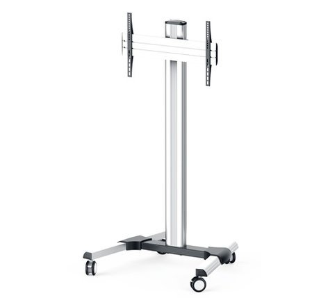 Middle Atlantic Products DS-600SC-AL DisplayStation Cart w/ 600VESA, Single Display Mount and Casters, ALU DS-600SC-AL