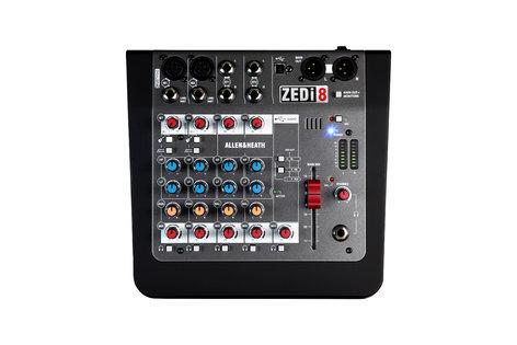 Allen & Heath ZEDi-8 8 Input Hybrid Analog Mixer / 2x2 USB Interface w/ Cubase ZED-I-8
